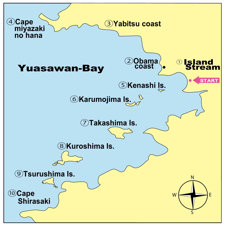 和歌山シーカヤックツアー アイスランドストリーム MAP